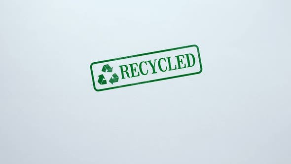Thumbnail for Recycled Seal Stamped on Blank Paper Background Eco-Friendly Technology