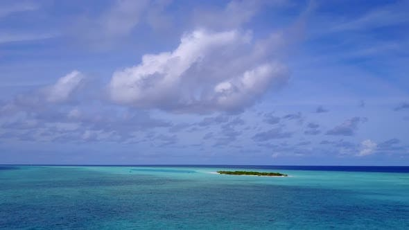 Thumbnail for Aerial landscape of lagoon beach by lagoon and sand background