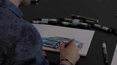 A drawing artist