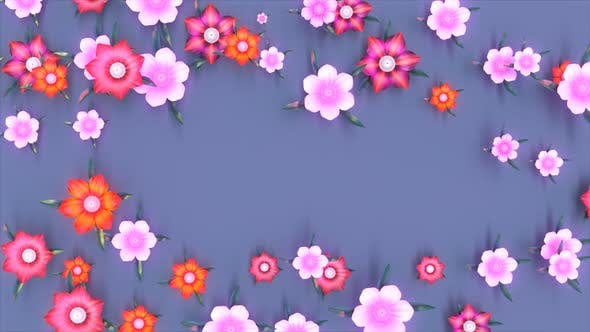 Abstract background of flowers blooming