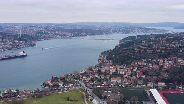 Thumbnail for Istanbul Bosphorus Bridge Aerial View
