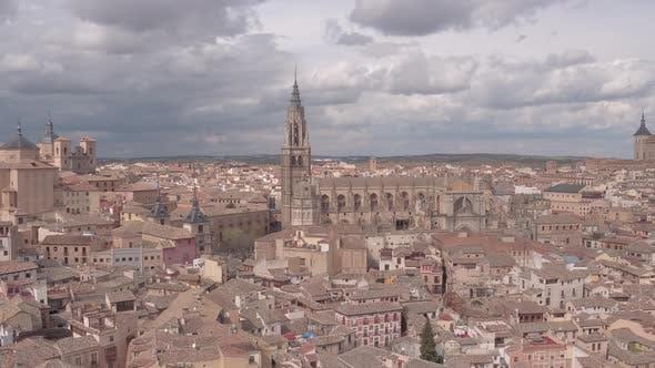 Luftaufnahme der Kathedrale und Alcazar
