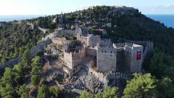 Thumbnail for Aerial View Alanya Castle  Alanya Kalesi