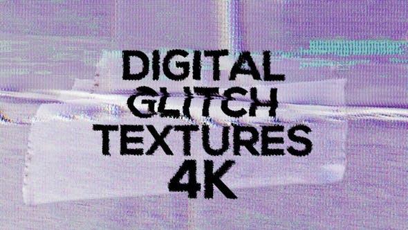 4k Digital Glitch Textures Pack