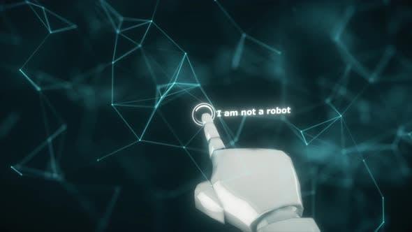 Thumbnail for Robot Hand Clicks To Captcha I Am Not Robot Test 4k