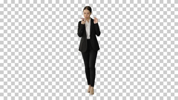 Thumbnail for Serious Businesswoman giving tasks talking, Alpha Channel