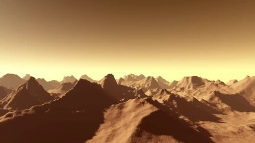 Planet Mars Surface Animation