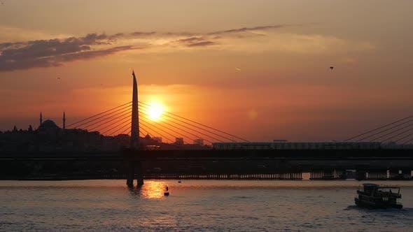 Thumbnail for Sunset at the Atatürk Bridge in Istanbul