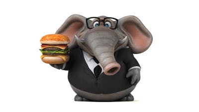 Fun fat elephant