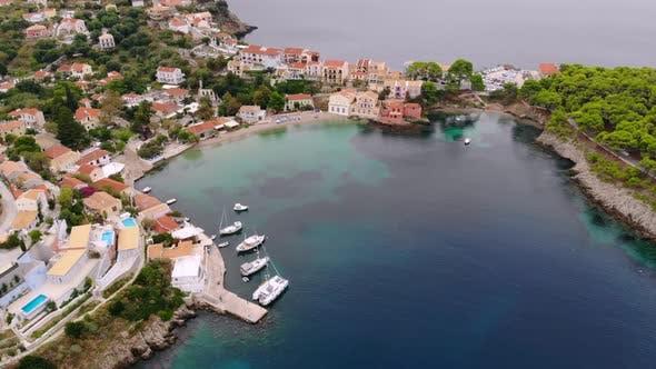 Thumbnail for Top View Panorama of Greek City of Asos, Kefalonia