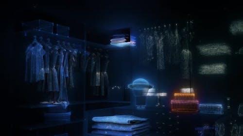 Digital Wardrobe Scanning Hud Hologram 4k