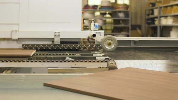Thumbnail for Chipboards on Conveyer at Furniture Factory 7