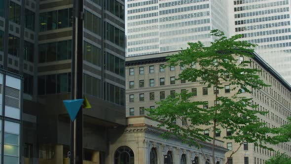 Thumbnail for Tilt up view of buildings in Downtown Montreal