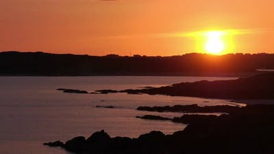 Sun Setting Over Clifden Bay Timelapse