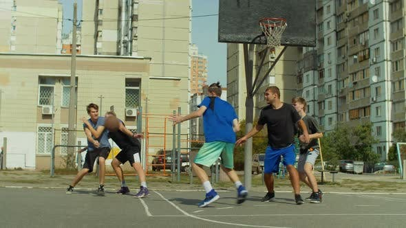 Thumbnail for Basketball Player Taking Jump Shot on Court