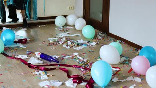 Parents come back home in shock of After party chaos, messy in livving room
