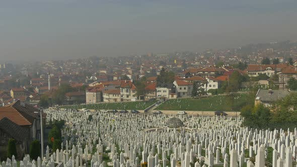 Thumbnail for Cemetery and the city
