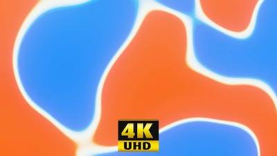 Liquid Paints Orange Blue 4K