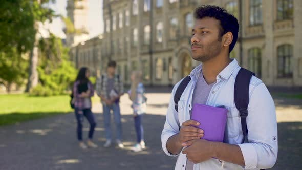 Thumbnail for Biracial Exchange Student Feeling Lonely without Friends at University Abroad
