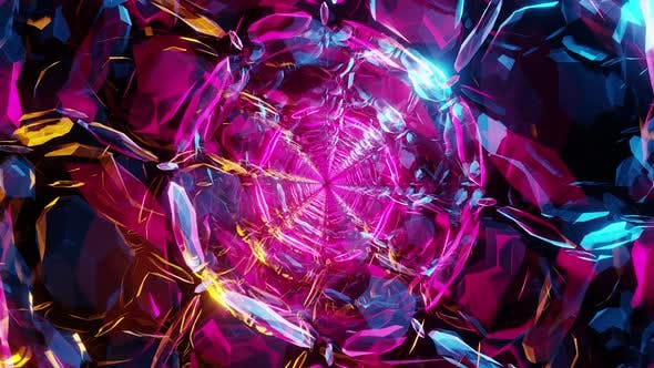 Magic Glass Neon Tunnel 4K
