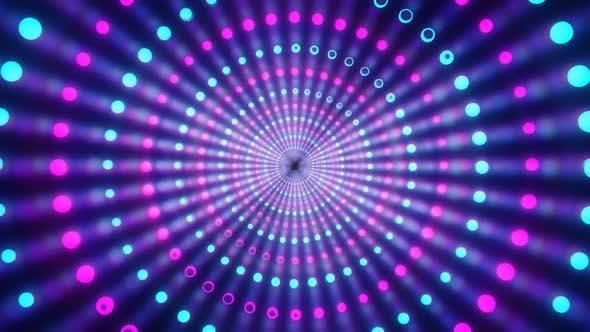 Vj Looped Animation von rotierenden Neonbällen