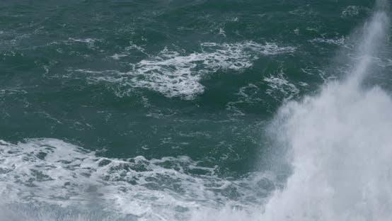Rough turquoise sea
