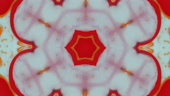 Thumbnail for Abstract kaleidoscope with red, orange and blue colors, mosaics, abstract backgrounds, mandalas.