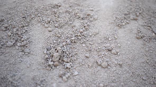 Macro Dry Soil Black Soil
