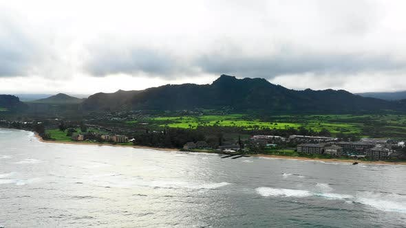 Thumbnail for Northern Kauai Hawaii Shoreline Aerial Drone Perspective