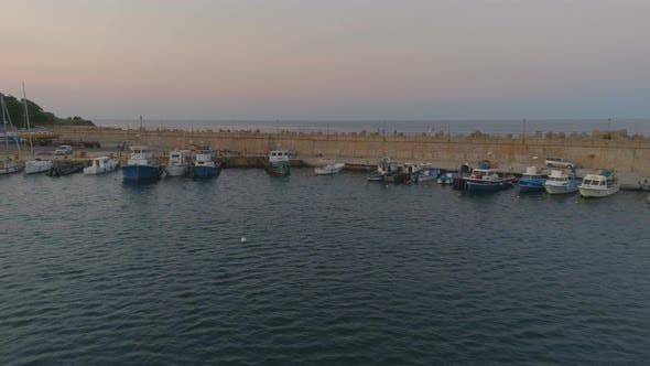 Thumbnail for Fisherman Boats at Sunset in Carevo