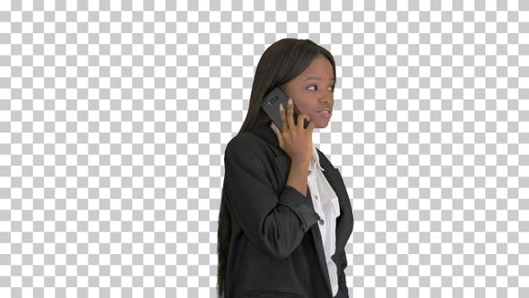 Thumbnail for Casual African American Businesswoman, Alpha Channel