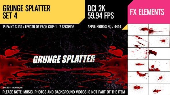Thumbnail for Grunge Splatter (2K Set 4)