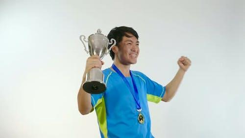 Asian Man Win