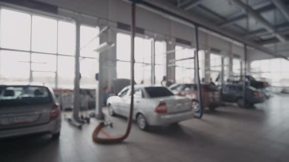 Interior of Automobile Repair Shop