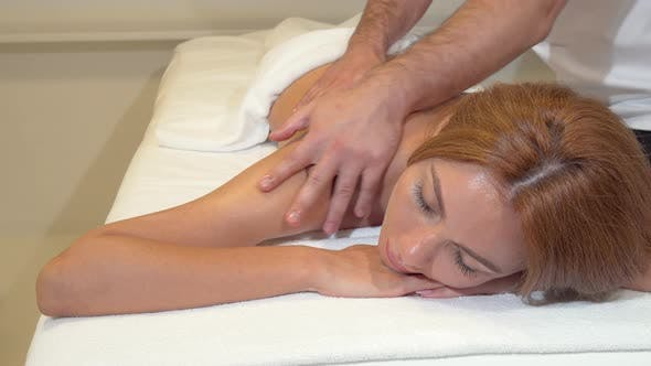 Thumbnail for Attractive Woman Getting Professional Massage at Beauty Spa