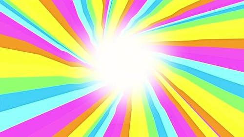Colorful Illusion Tunnel