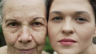 Old and Young Faces of a Women