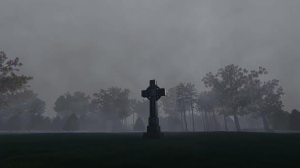 Thumbnail for Celtic Cross In Graveyard