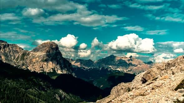 Thumbnail for Dolomites mountains landscape timelapse, Italy