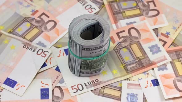 Thumbnail for Rotating Hundred Dollar And Euro Banknotes 9
