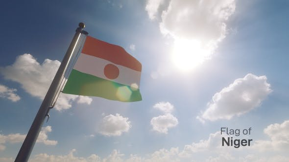 Thumbnail for Niger Flag on a Flagpole V2