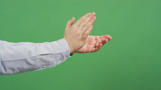 Thumbnail for Side view of hands applauding