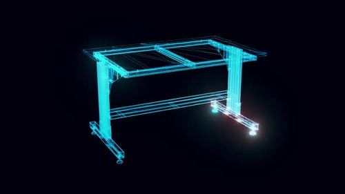 Adjustable Working Table Hologram Rotating Hd