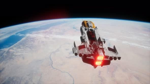 Big Spaceship on the Earth Orbit