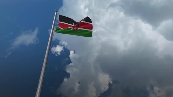 Kenya Flag Waving 2K