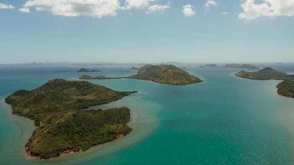 Thumbnail for Seascape with Tropical Islands and Lagoons., Philippines, Palawan