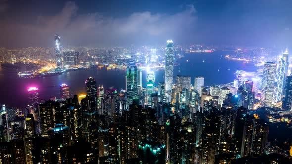 Thumbnail for Timelapse of Hong Kong night
