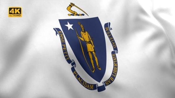 Massachusetts State Flag - 4K