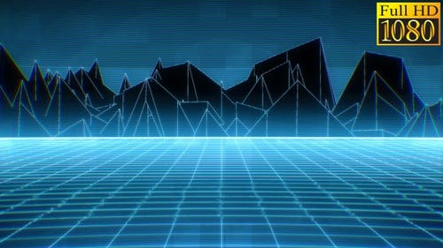 Retrowave Abstract Geometric Vj Loops Pack V2