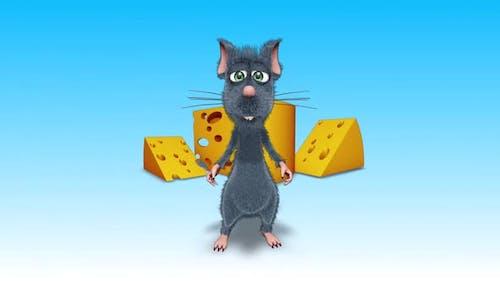 Cartoon 3D Rat Opener Show Looped